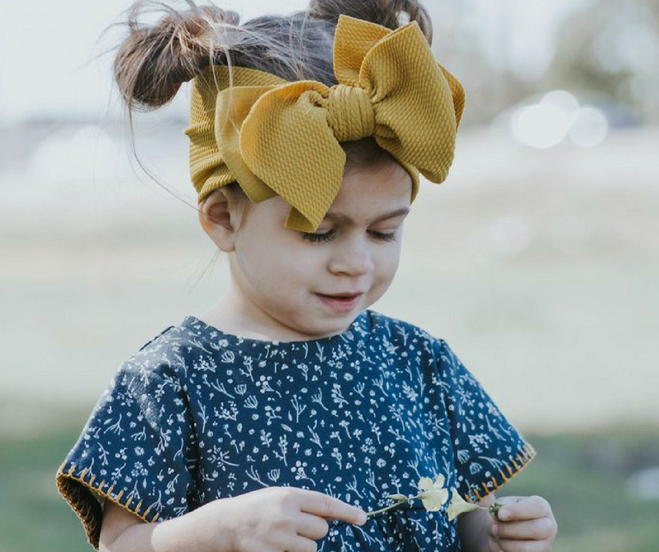 Introducing Blondes in Bows - Handmade Designer Head Wraps for your Handmade Modern Smocked Clothing