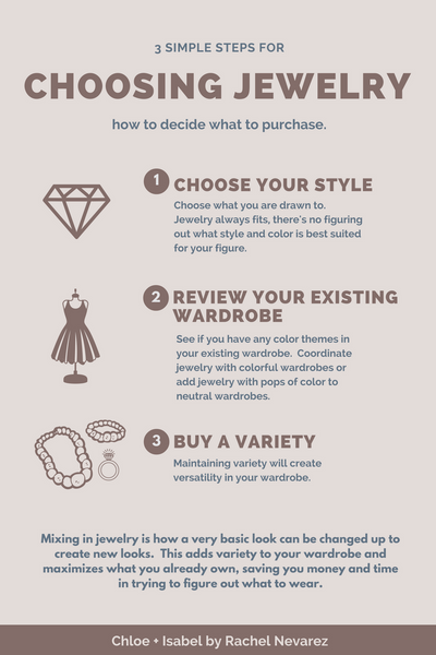 3 simple steps for choosing jewelry