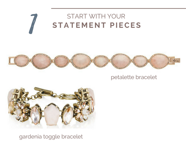 A Guide to layering your jewelry - start with statement pieces