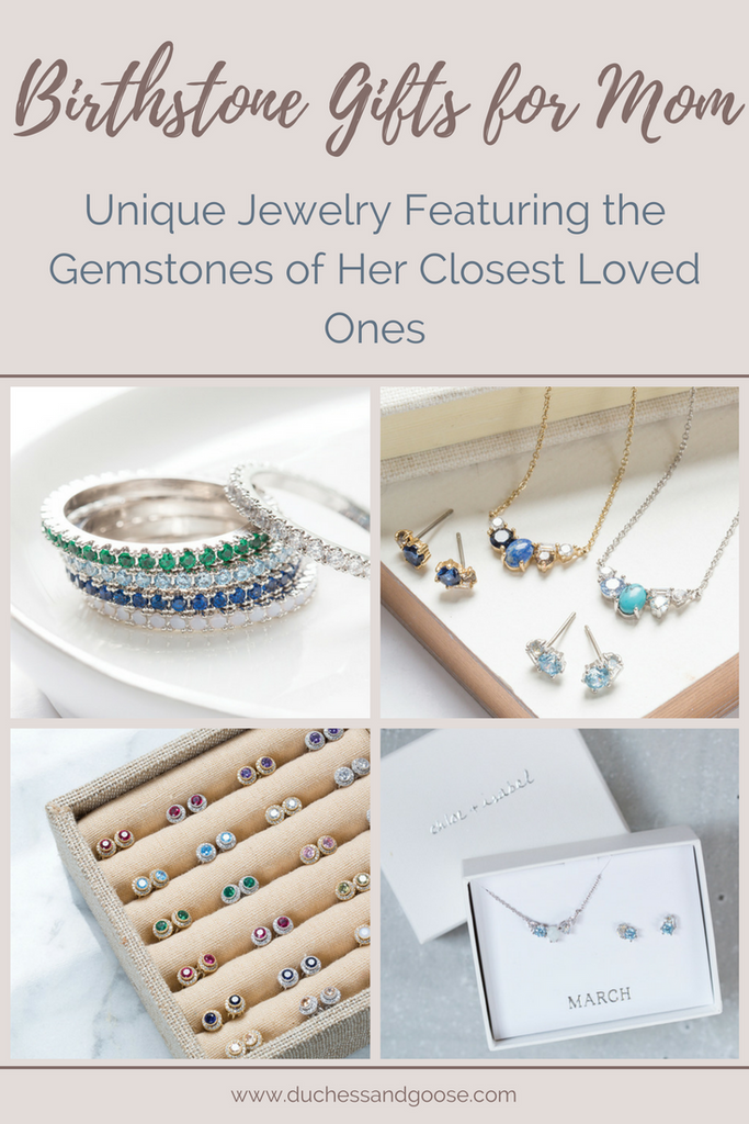 Birthstone Gifts for Mom | Unique jewelry featuring the gemstones of her closet loved ones