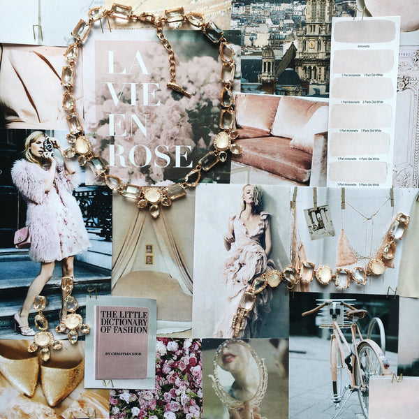 Chloe + Isabel Rose Gold Mood Board and inspiration