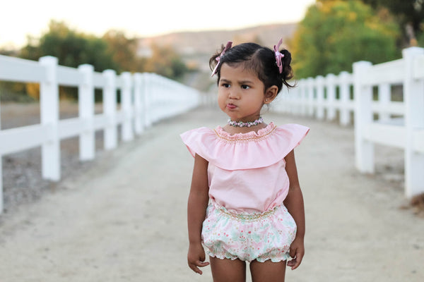Pink Smock Top Unicorn Bubble Shorts Duchess and Goose