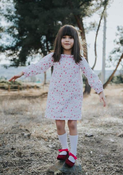 Little Hearts Handmade Long Sleeve Smock Dress