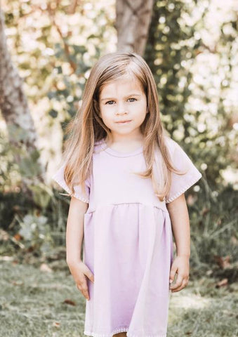 Dotty Dress in Lavender