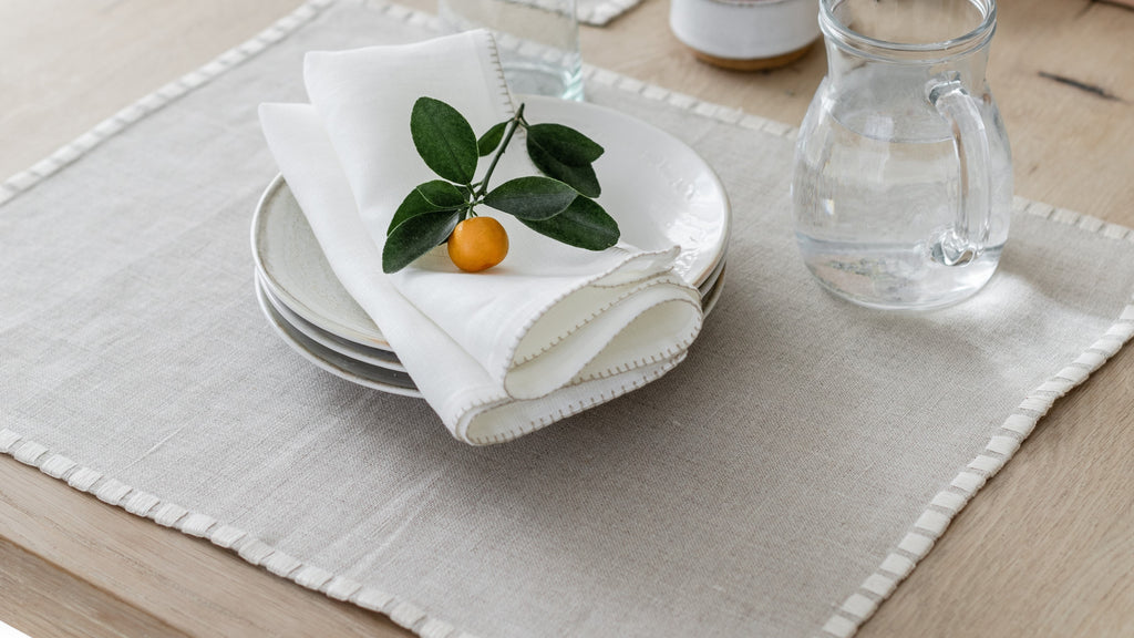 Linen placemats by Artha Collections