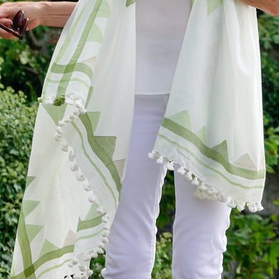 Handwoven Cotton Scarf by Artha Collections