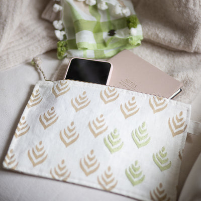 Leaf Pouch Set - Green