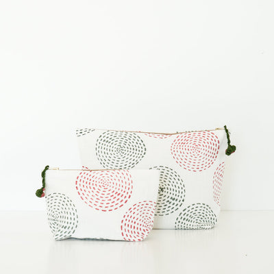 Block Print Pouches to Organize Your Bag