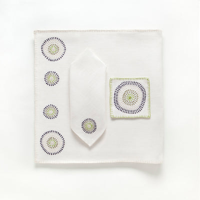 Hand Embroidered Colorful Table Linens by Artha Collections