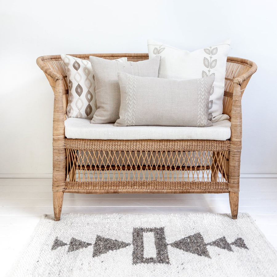 Handwoven Double Arrow Rug by Artha Collections