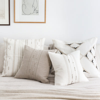 Hand Embroidered Linen Pillows by Artha Collections