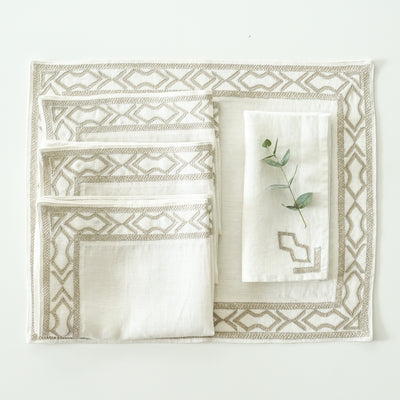 Trellis design linens | Artha Collections