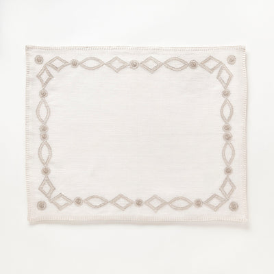 Hand Embroidered Linen Placemat by Artha Collections