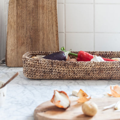 Woven Basket Tray by Artha Collections