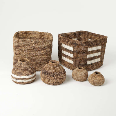 Woven Artisan Baskets for Home by Artha Collections