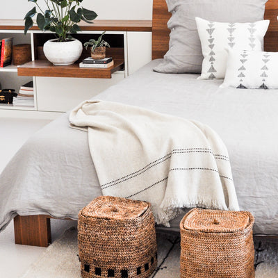 Handwoven Blanket Basket by Artha Collections