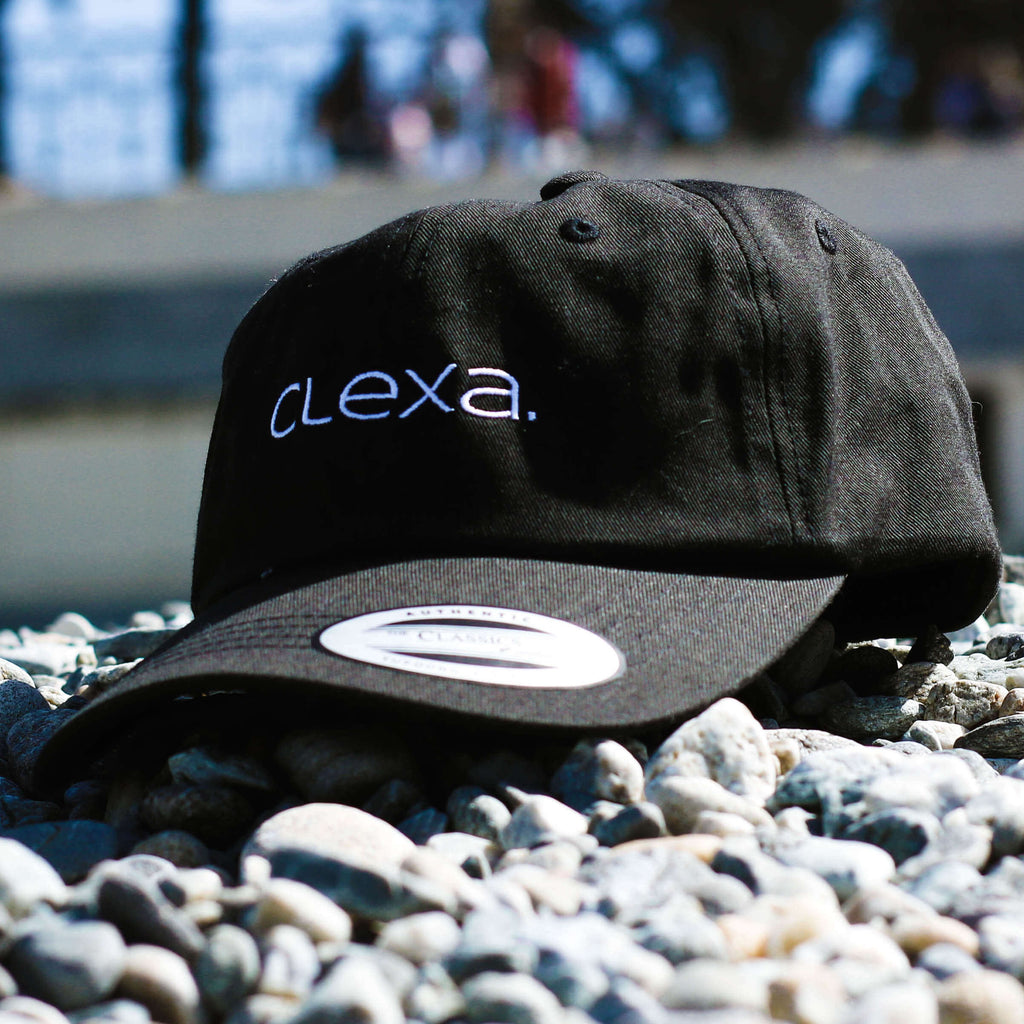 Clexa Hat Front Black White Text