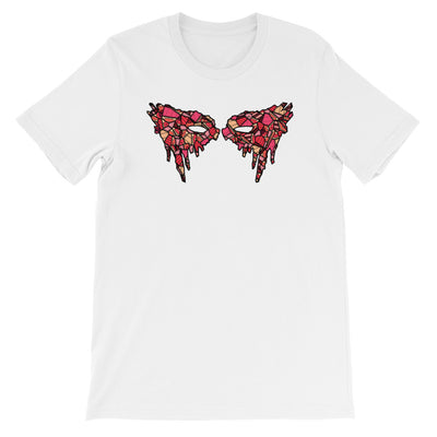 Lexa War Paint T-Shirt Red Stained Glass Design White Shirt