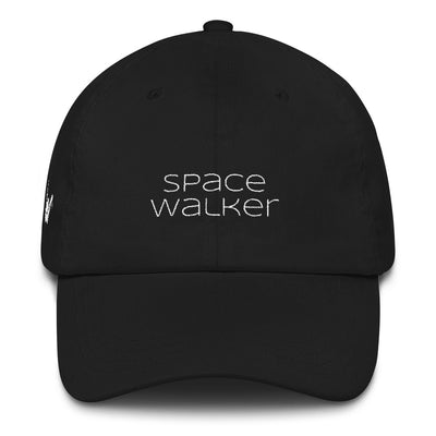 Raven Space Walker Hat White Text Black Hat