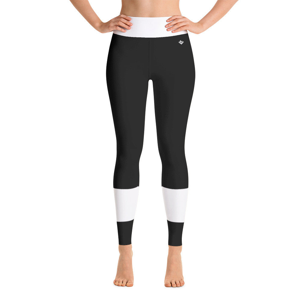 Yoga Leggings - White Stripes - Voga Cases™