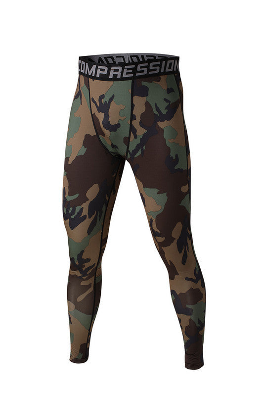 Men's Compression Pants Traditional Camo