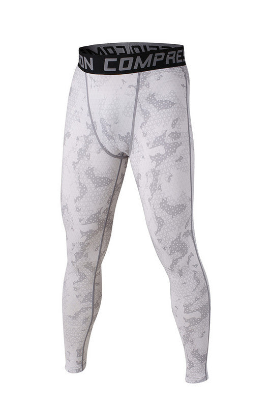 Men's Compression Pants White Camo
