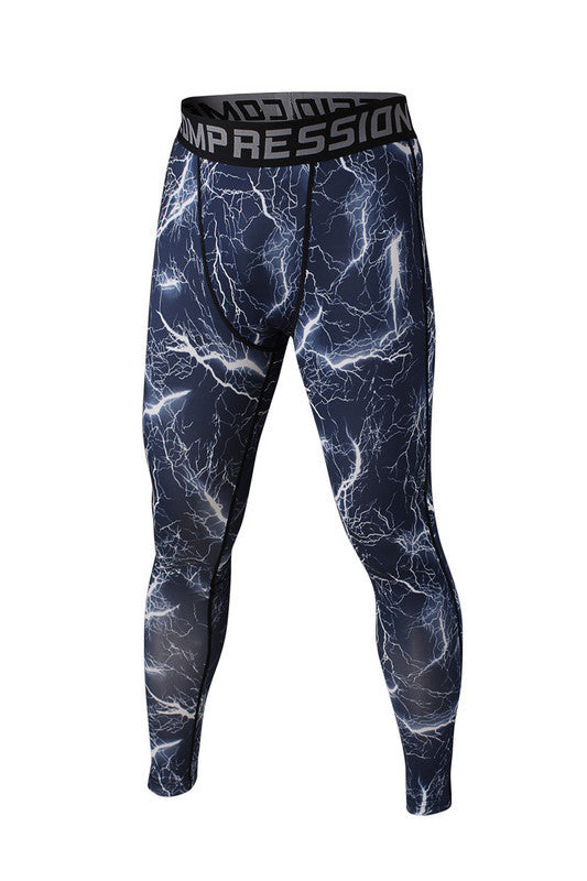 Men's Compression Pants Electric Blue