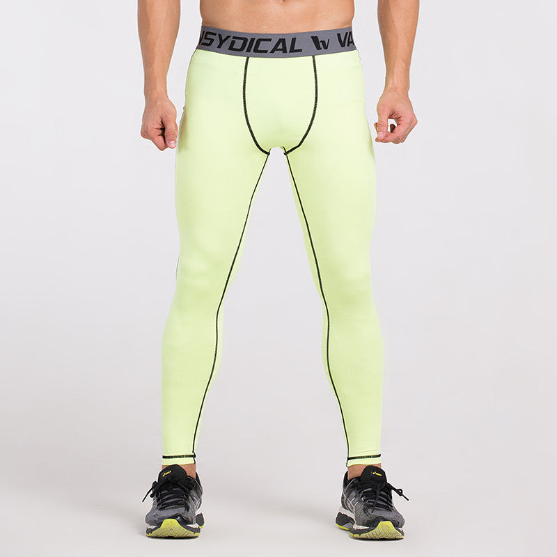 Men's Compression Pants Light Neon Yellow