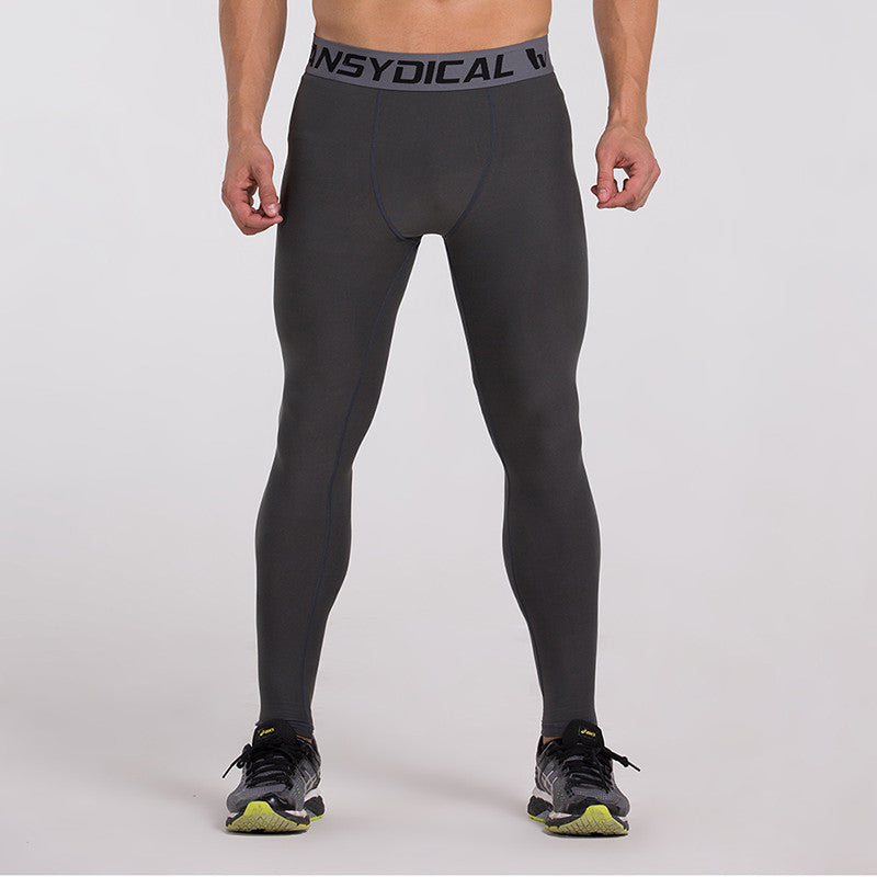 Men's Compression Pants Gray