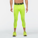 Men's 3/4 Compression Pants Neon Yellow