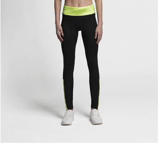 Women's Compression Pants Yellow Waist