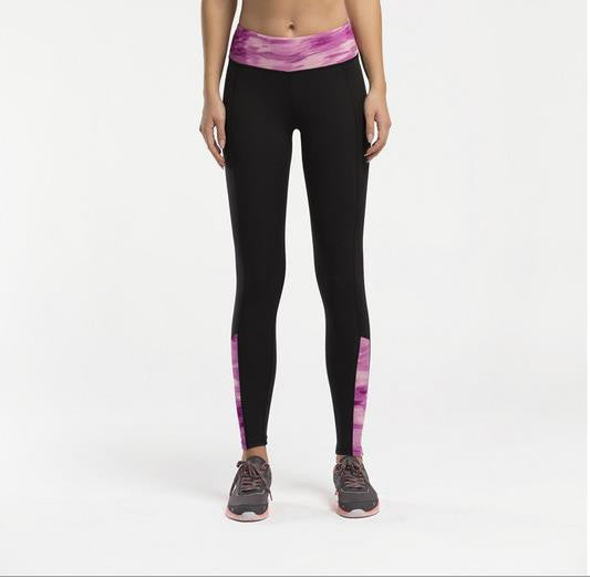 Women's Compression Pants Purple Waist