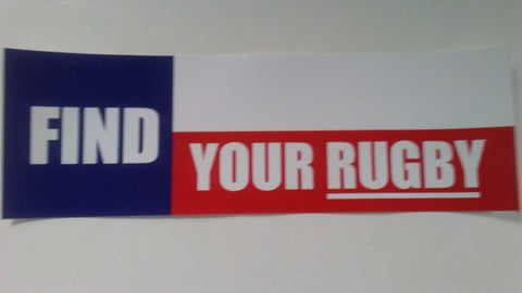 Find Your Rugby Recruitment Sticker