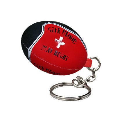 Give Blood Gilbert Rugby Ball KEYRING