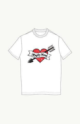 Heart Tattoo Rugby/Dad/Mom Tshirt