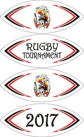BATTLESHIP RUGBY BALL SIZE 5 OR 3