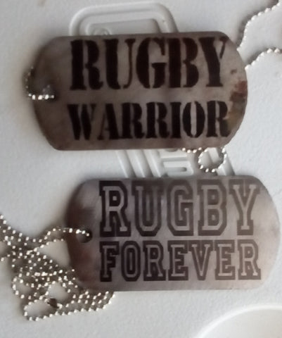 Extra Rugged RUGBY dog tags