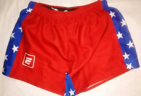 RED WHITE AND BLUE Premium Rugby Shorts