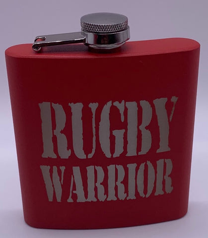 Premium RUGBY WARRIOR Wine bottle / flask