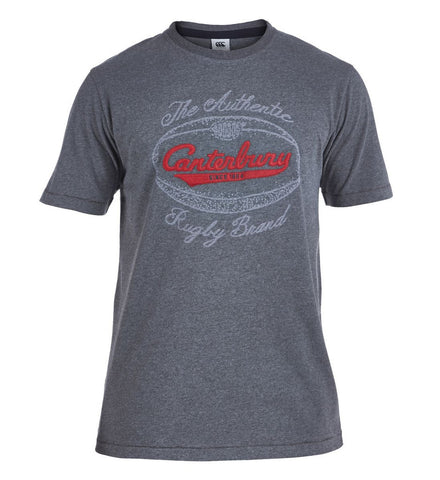 Canterbury  Authentic Rugby Ball Tee Charcoal Marle