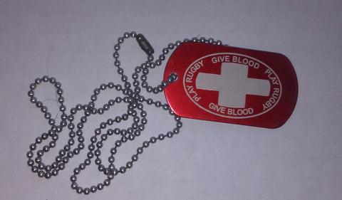 GIVE BLOOD DOG TAG