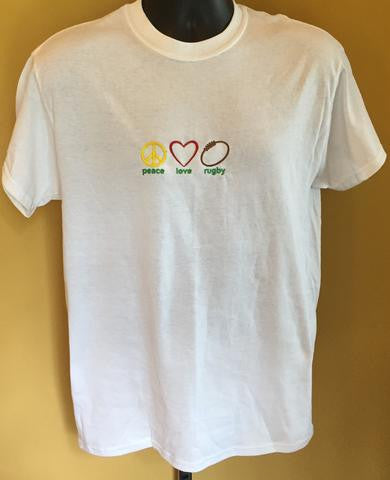 Peace Love Rugby Embroidered T