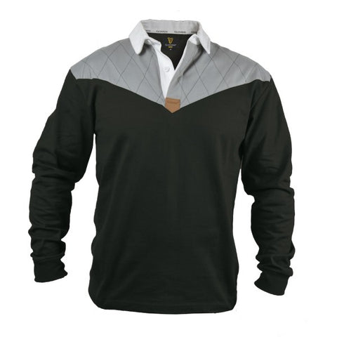 Guinness® Heritage Charcoal Grey and Black Long Sleeve Rugby Jersey