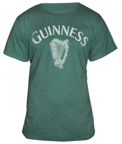 Guinness Green Vintage Heathered Harp Tee