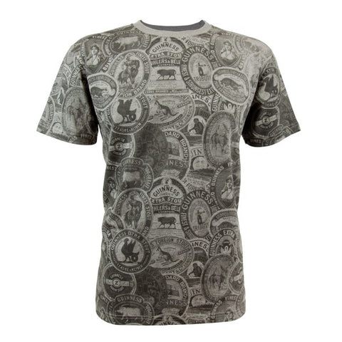 Guinness Premium Vintage Label grey Tee