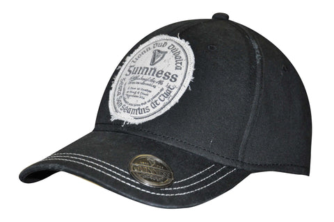 Guinness Black Gaelic Label Opener Hat