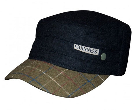Guinness Black Tweed Peak Cadet Cap