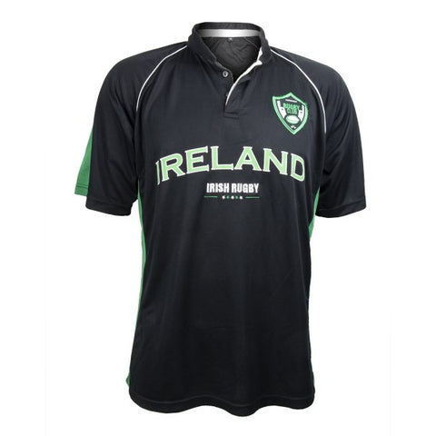 Croker Ireland Black and Green Premium Rugby Jersey