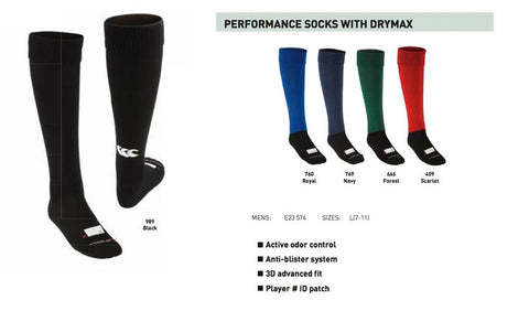 Canterbury Performance Socks with Drymax