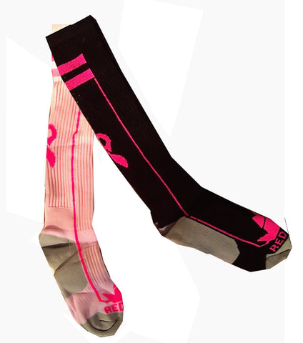 Breast Cancer Awareness Ribbon Premium Socks